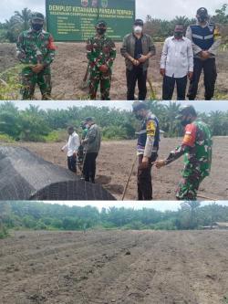 Dukung Ketahanan Pangan , Danramil  02/Tanah Putih Pantau Areal Lahan Petani Cabai di Cempedak Rahuk
