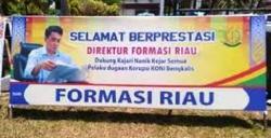 Kasus Tak Kunjung Diproses, Formasi Riau Bentang Spanduk Apresiasi Kejari Bengkalis