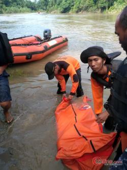 2 Hari Tenggelam, Anak STM Nasional Kisaran Gambang Diarus Sungai Silau