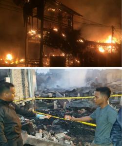Kebakaran 13 Rumah di Bagansiapiapi Merenggut Dua Nyawa