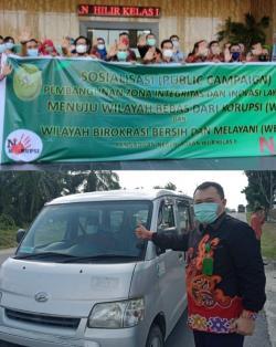 PN Rohil Sosialisasikan Pembangunan  Zona Wilayah  Integritas Menuju WBK dan WBBM
