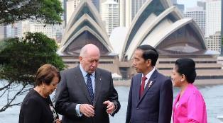 Jokowi Disambut Hangat di Admiralty House Australia