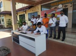 Bekuk Pencuri Pipa, Polres Bengkalis Gelar Press Release