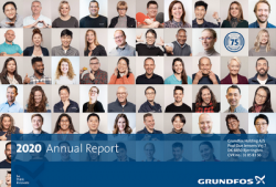 Grundfos Laporkan Kinerja dan Keuangan Tahun 2020