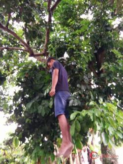 Warga Gunung Melayu Asahan Digegerkan Pria Gantung Diri