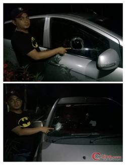 Gawat,! Mobil Oknum Pengacara Dilempar Batu, Pelaku Cicing