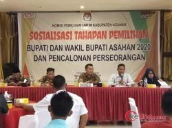 KPUD Asahan Gelar Sosialisasi tahapan Pilkada 2020