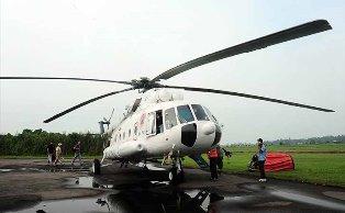 Helikopter Bell 412 Bantuan KemenLKH Ditarik dari Riau