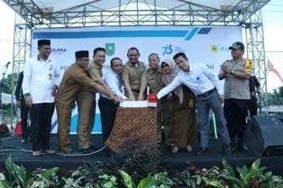 HUT Listrik Nasional Ke-73, PLN Wilayah Riau Aliri Listrik untuk 9 Desa di Siak