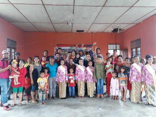 Dewan dr. Morison Bationg Sihite Disambut Suku Asli Bengkalis