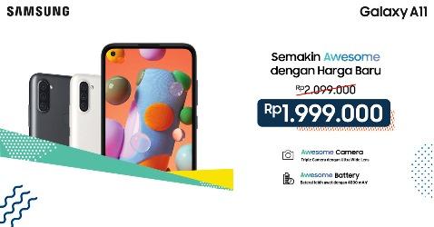 Samsung Galaxy A11 Hadir dengan Harga Lebih Terjangkau