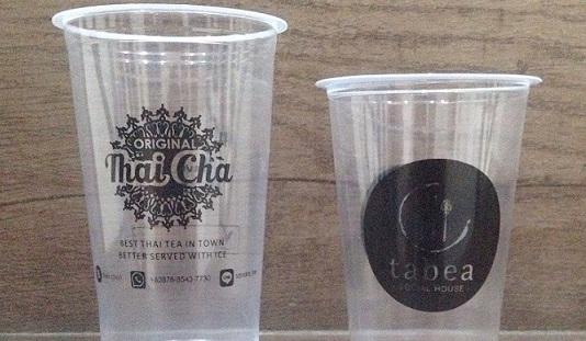 Usaha Pembuat Brand atau Logo Usaha Sendiri di Cup Gelas Plastik Termurah